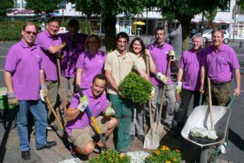 GfR Beetaktion: Team mit Bürgermeister Mombauer (ganz rechts)