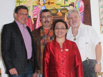Robert Scheuermeyer, Hansi Kautz, Lawan Gaddy, Jerry Gaddy (Bild : K.B.)